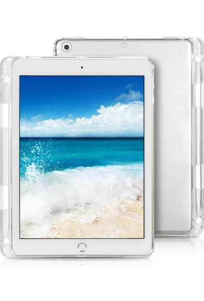 """Tbkcase Apple iPad Pro 11"""" Kılıf Lüks Tpu Kalemlikli Silikon Şeffaf"""