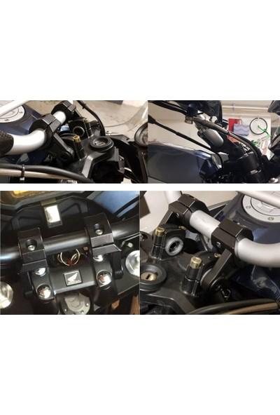 Knmaster Açısı Ayarlanabilir Motosiklet Gidon Yükseltme Takımı Krom
