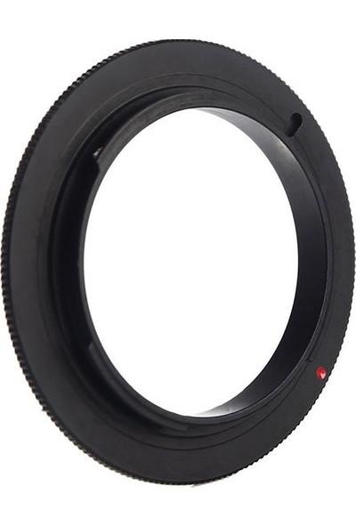Mettzchrom Canon 50 mm Stm İçin 49 mm Makro Macro Ters Bağlantı Adaptörü