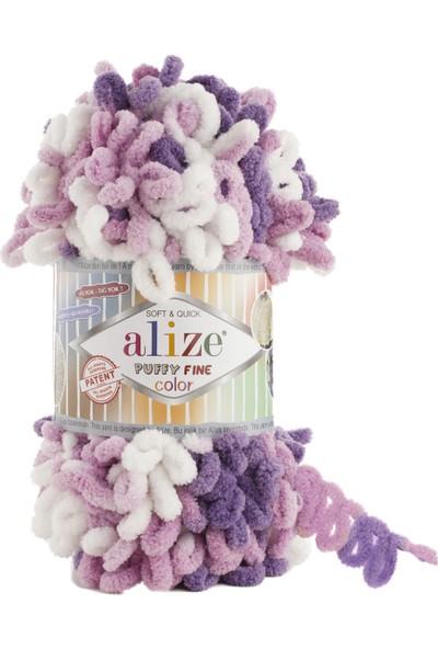 Clk Tekstil 5 Adet Alize Puffy Fine Color El Örgü Ipi Ipliği Renk Kodu 6067