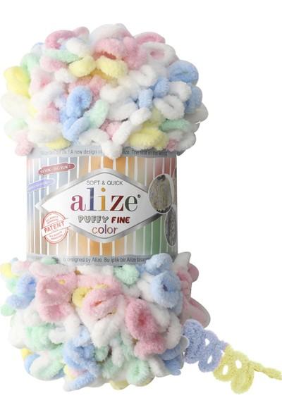 Clk Tekstil 5 Adet Alize Puffy Fine Color El Örgü Ipi Ipliği Renk Kodu 5949