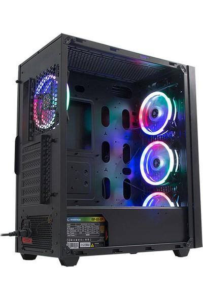 Rampage Alpha-X 4x12 cm Rainbow Fan 600W 80 Plus Bronze RGB Led Oyuncu Kasası