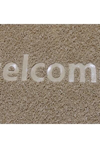 My Floor Welcome Baskılı Kıvırcık Kapı Önü Paspası