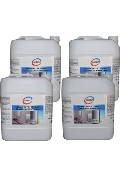 Akbel Kombi Petek Tesisat Temizleme Kimyasalı 5 lt 4'lü