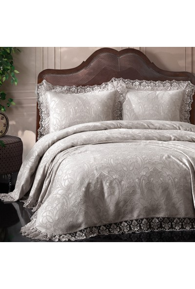 Bir Home Violet Dantel Yatak Örtüsü