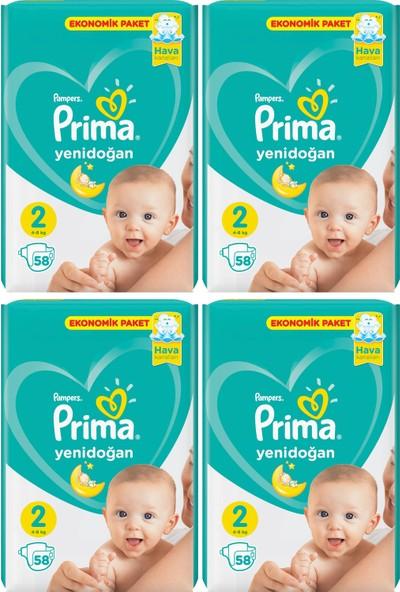 Prima Yeni Doğan Ekonomik Paket 2 Numara 58x4=232 Adet Yenidoğan