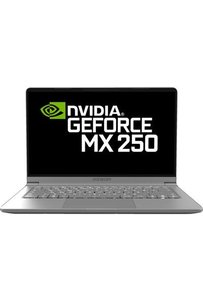 """Monster Huma H4 V3.1.1 Intel Core i7 10510U 16GB 512GB SSD MX250 Windows 10 Home 14.1"""" FHD Taşınabilir Bilgisayar"""