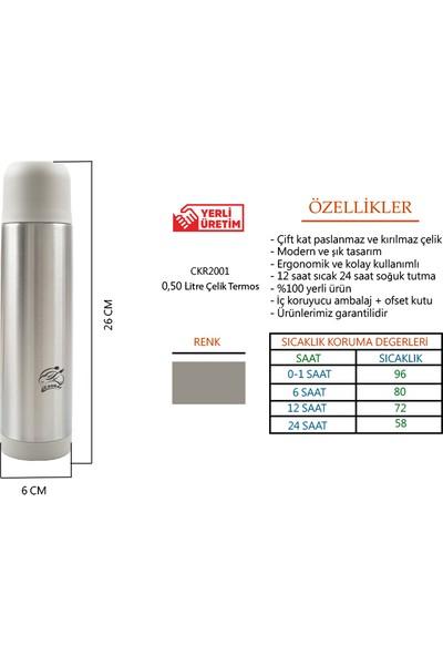 Cooker Paslanmaz Çelik Termos 500 ml / 12 Saat Sıcak – 24 Saat Soğuk