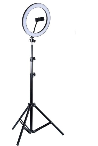 CoverZone Youtuber LED Selfie Işığı Telefon Tutuculu Tripod 10 Inç 2.1 m