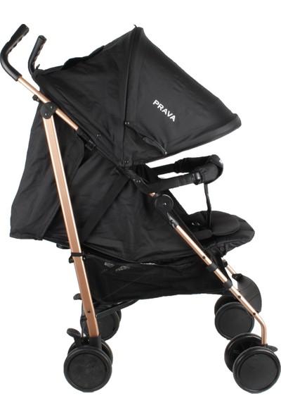 Prava P09 Ruby Aliminyum Baston Bebek Arabası - Siyah
