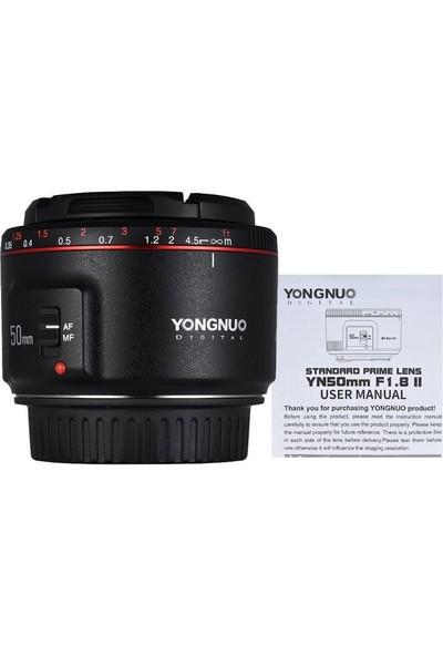 Yongnuo 50 mm F1.8 II Canon Uyumlu Otofokus Prime Lens (Siyah)