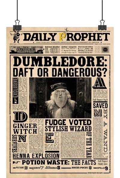 13 Poster Harry Potter Daily Prophet Gazetesi Dumbledore Manşetli 48 x 33 cm Posteri