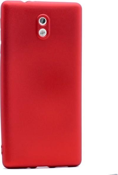 Case Street Nokia 3 Kılıf Premier Silikon Kılıf + Nano + Kalem Koruyucu Kırmızı