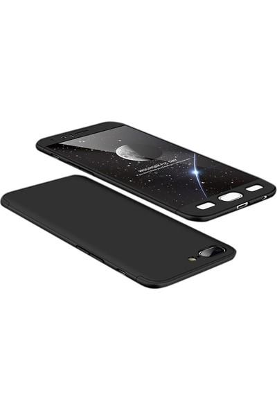 Case Street One Plus 5 Kılıf Ays 3 Parçalı + Nano + Kalem + Kalem Siyah