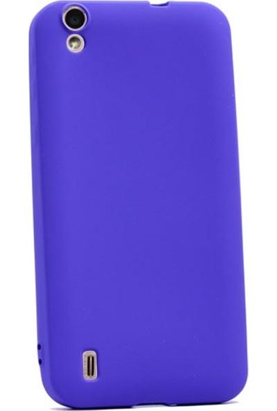 Case Street Vestel Venus V3 5000 Kılıf Premier Silikon Kılıf + Nano + Kalem Mor