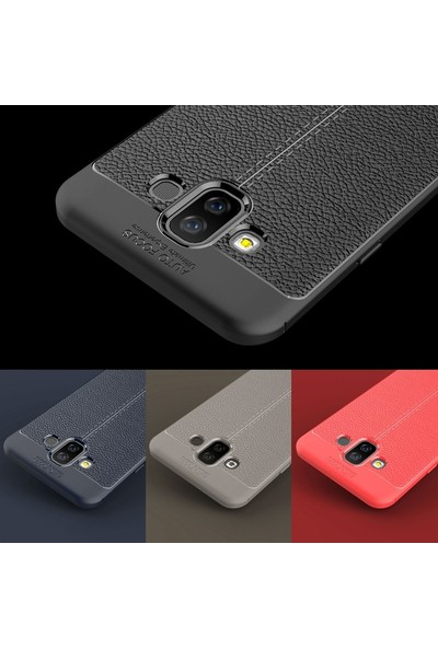 Case Street Samsung Galaxy J7 Duo Kılıf Niss Silikon + Nano + Kalem Siyah