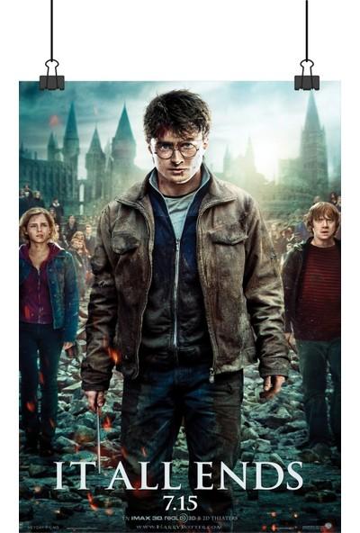 13 Poster Harry Potter Deathly Hallows Ölüm Yadigarları Sinema Film 48 x 33 cm Posteri