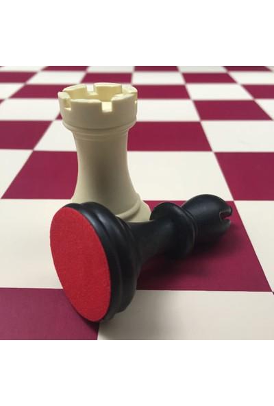 Yeni Satranç Profesyonel Satranç Takımı Floklu Şah Boyu 94 mm