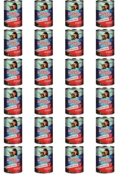 Miglior Gatto Manzo Biftekli Yetişkin Kedi Konservesi 405 gr x 24 Adet