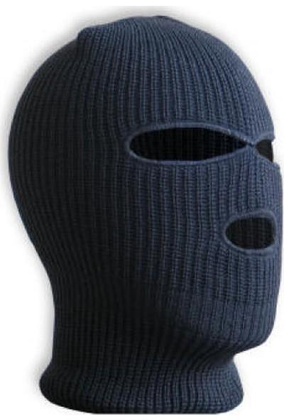 Zabata Kışlık Örme Kar Maskesi Kışlık Bayan Erkek Bere Şapka Balaklava