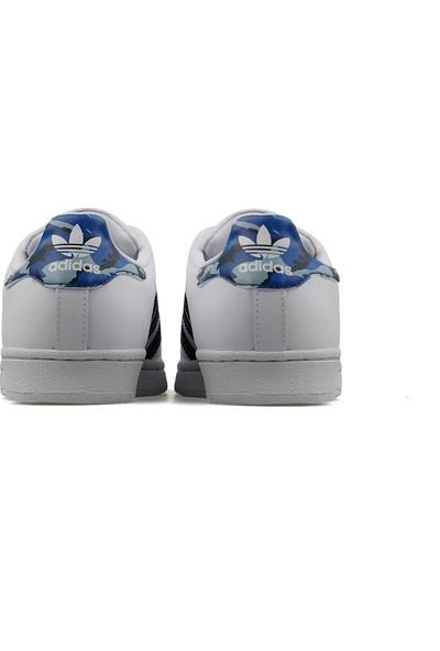 Adidas Genç Günlük Ayakkabı Spor Beyaz Ee7501 Superstar J