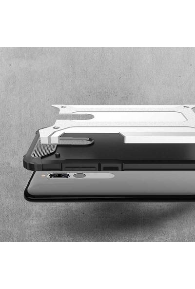 BizimGross Xiaomi Redmi 8 Kılıf Zırh Tank Crash Telefon Kılıfı Siyah