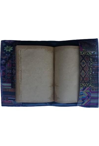1SE2GE Handmade Simge Kitap Kılıfı -Kilim Desenli
