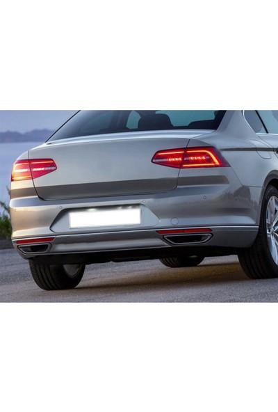 Oto Axs Volkswagen Passat B8.5 Krom Arka Tampon Çıtası 2019 ve Sonrası