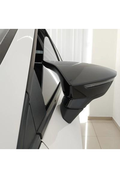 Oto Axs Seat Leon Mk3 Yarasa Ayna Kapağı 2012 ve Sonrası Piano Black
