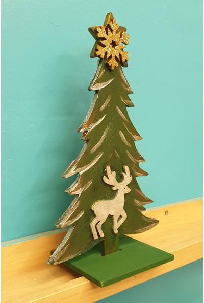 Markakanvas Dekoratif YeniYıl Yılbaşı Çam ağacı