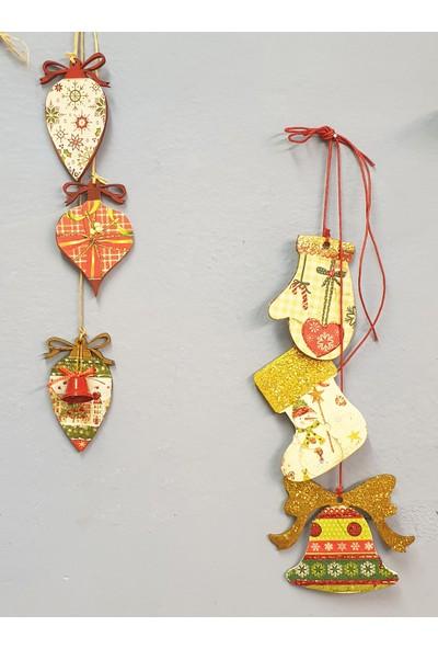 Markakanvas 6'lı Dekoratif YeniYıl Yılbaşı Süsleri
