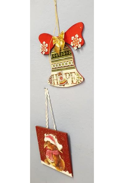 Markakanvas 2'li Dekoratif YeniYıl Yılbaşı Süsleri