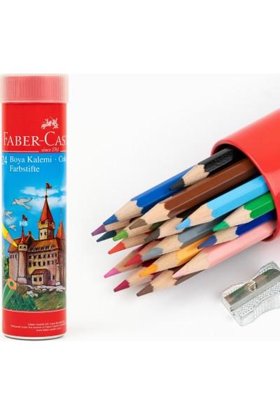Faber-Castell 12'li Metal Tüp Kuru Boya Seti (Kalemtraş Hediyeli)