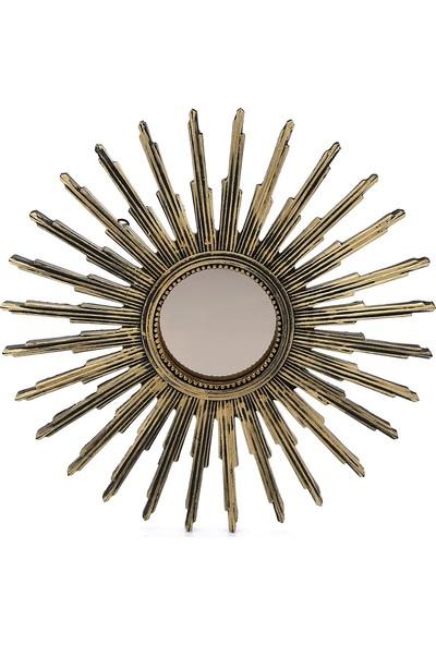 Mossa Home Gold Dekoratif Güneş Ayna