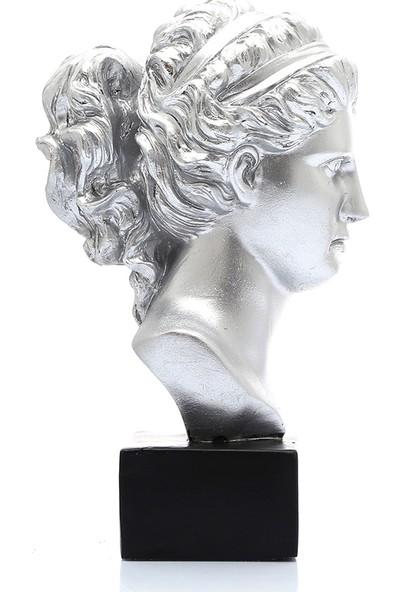 Mossa Home Gümüş Thalia Dekor Büst
