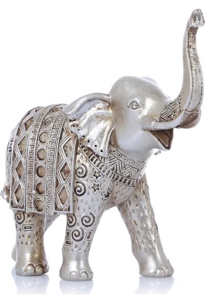 Mossa Home Gümüş Küçük Boy Dekoratif Fil Biblosu