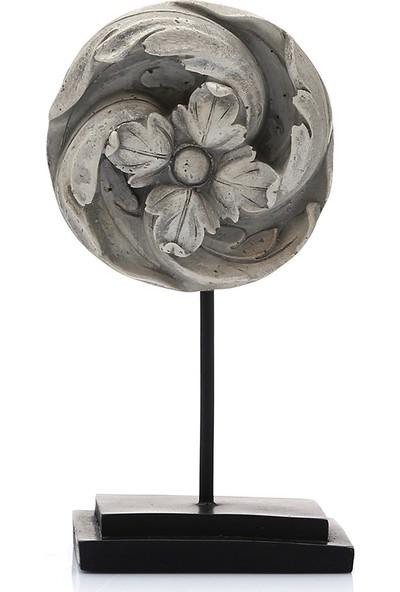 Mossa Home Krem Stantlı Eskitme Çiçek Biblosu