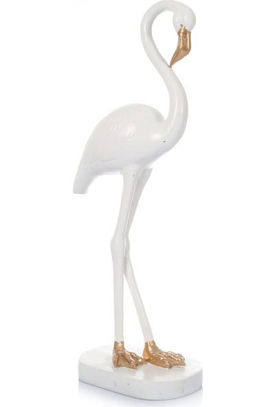 Mossa Home Beyaz Büyük Boy Flamingo Biblosu