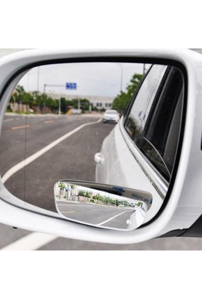 Dikdörtgen Çerçevesiz Gerçek Cam Ultra Ince Kör Nokta Aynası 90 mm 360 Derece