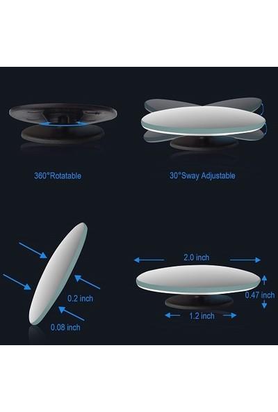 Yuvarlak Çerçevesiz Gerçek Cam Ultra Ince Kör Nokta Aynası 360 Derece