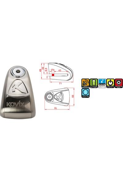 Kovix Kal6 Alarmlı Disk Kilidi 120 Db (6 Mm.)