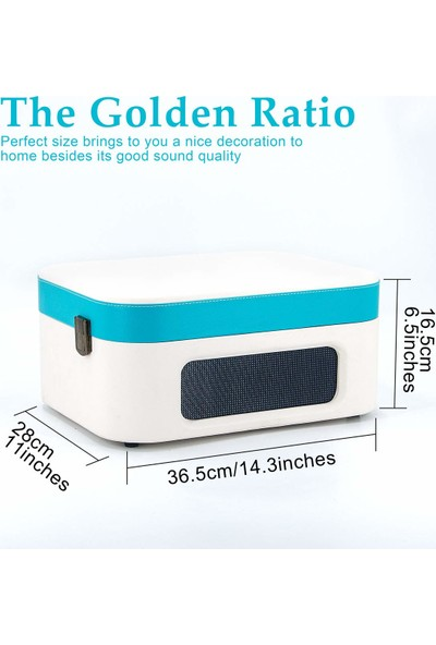 Music Public Kingdom TT270 Bluetooth Özellikli Pikap - 33 ve 45 Devir Plak Çalar - Turkuaz Mavi