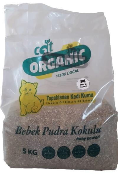 Catorganic Bebek Pudra Kokulu Topaklaşan Kedi Kumu