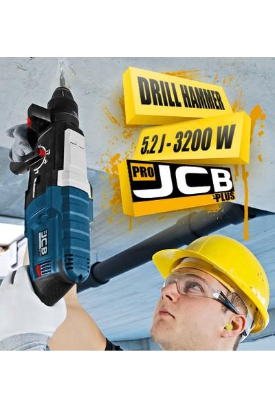 JCB Pro Plus Sjs Metal Şanzuman 3200 W 5.2 Joule Professıonel Kırıcı Delici + Uç 5'li