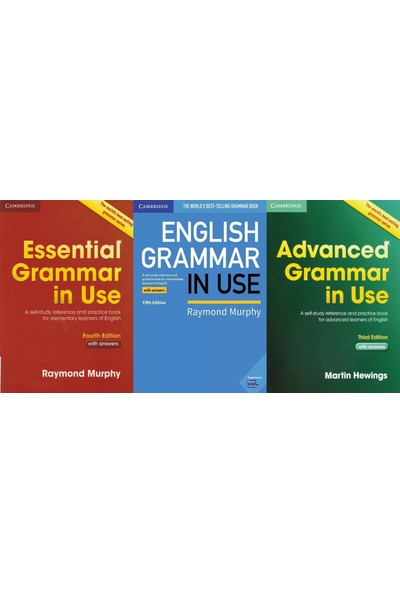 Cambridge University Press Essential Grammar In Use + English Grammar In Use + Advanced Grammar In Use + With Answers + CD
