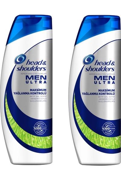 Head&shoulders Men Ultra Maksimum Yağ Kontrolü Şampuan 500 ml 2 Adet
