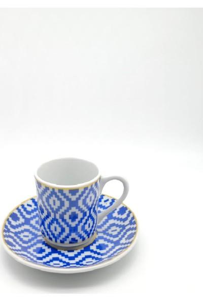 Pm Leonardo 6'lı Porselen Türk Kahvesi Fincan Takımı Roma