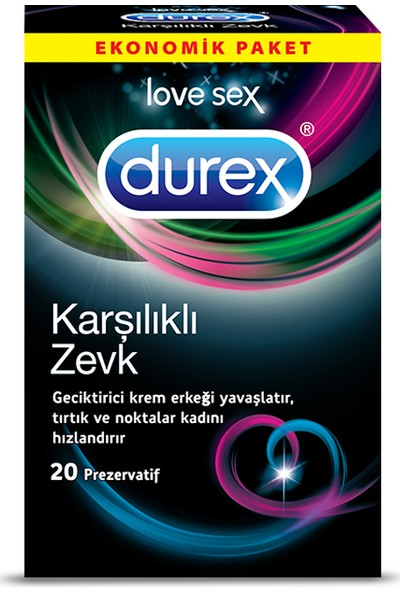 Durex Karşılıklı Zevk Geciktiricili Prezervatif 20'li Avantaj Paketi