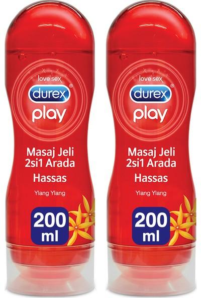 Durex Play Kayganlaştırıcı ve Masaj Jeli Hassas 200 ml x 2 Adet