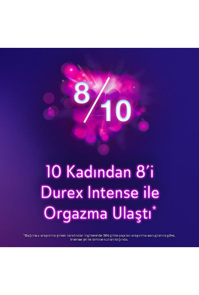 Durex Intense Uyarıcı Prezervatif 40'li + Intense Uyarıcı Jel